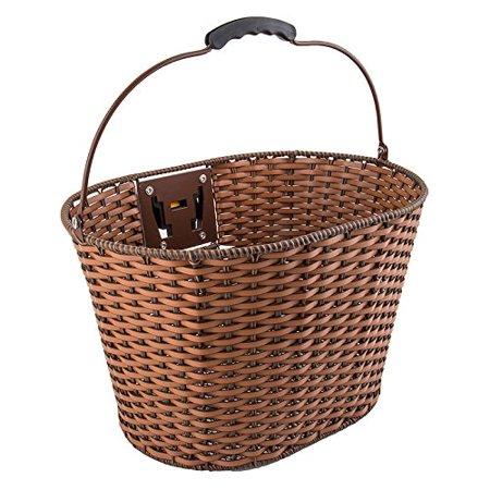 """Sunlite Deluxe Rattan Quick Release Basket, 13.5 x 10.25 x 10.25"""", Brown - image 1 de 1"""