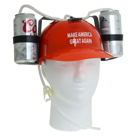 Beer Helmet Red - Make America Great Again (Helmet Party)