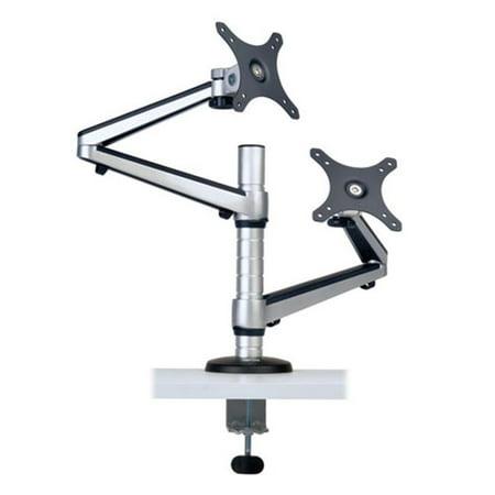13 - 27 in. Monitors, Dual Full Motion Flex Arm Desk Clamp ()