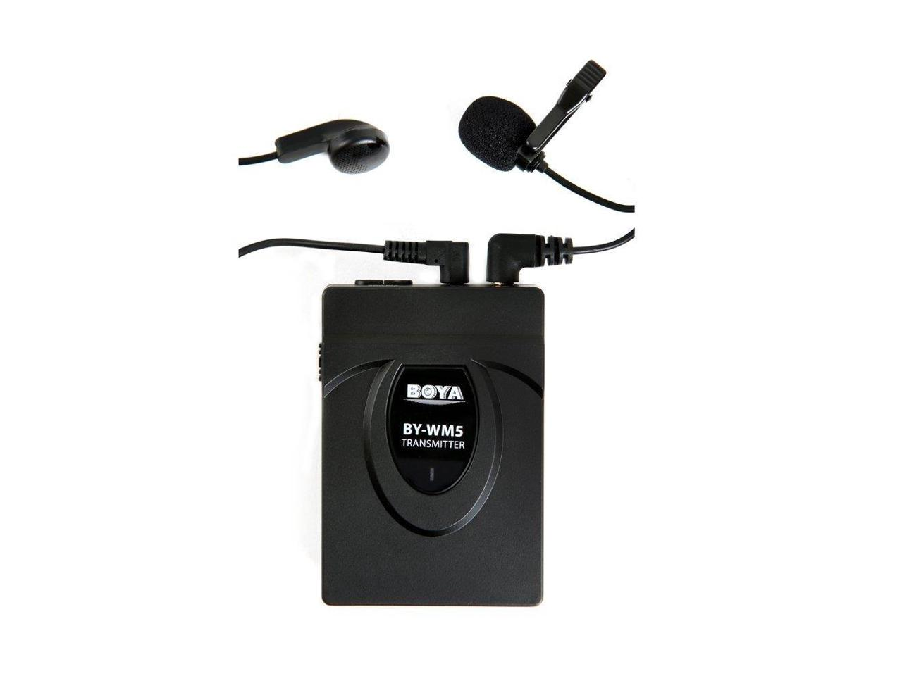 BOYA BY-WM5 Pro Wireless Lavalier Microphone Microphone System for Canon Nikon Sony DSLR... by