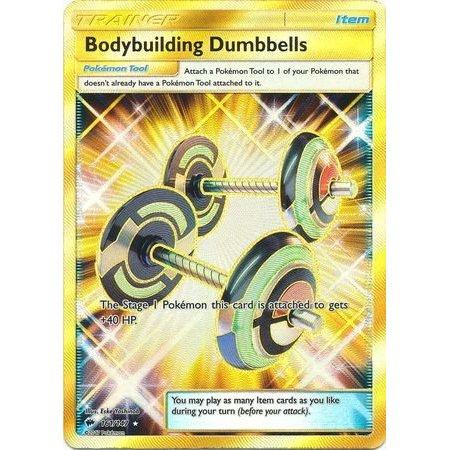Bodybuilding Dumbbells - 161/147 - Secret Rare - Sun & Moon: Burning (Secret Rare Ultra Ball Sun And Moon)