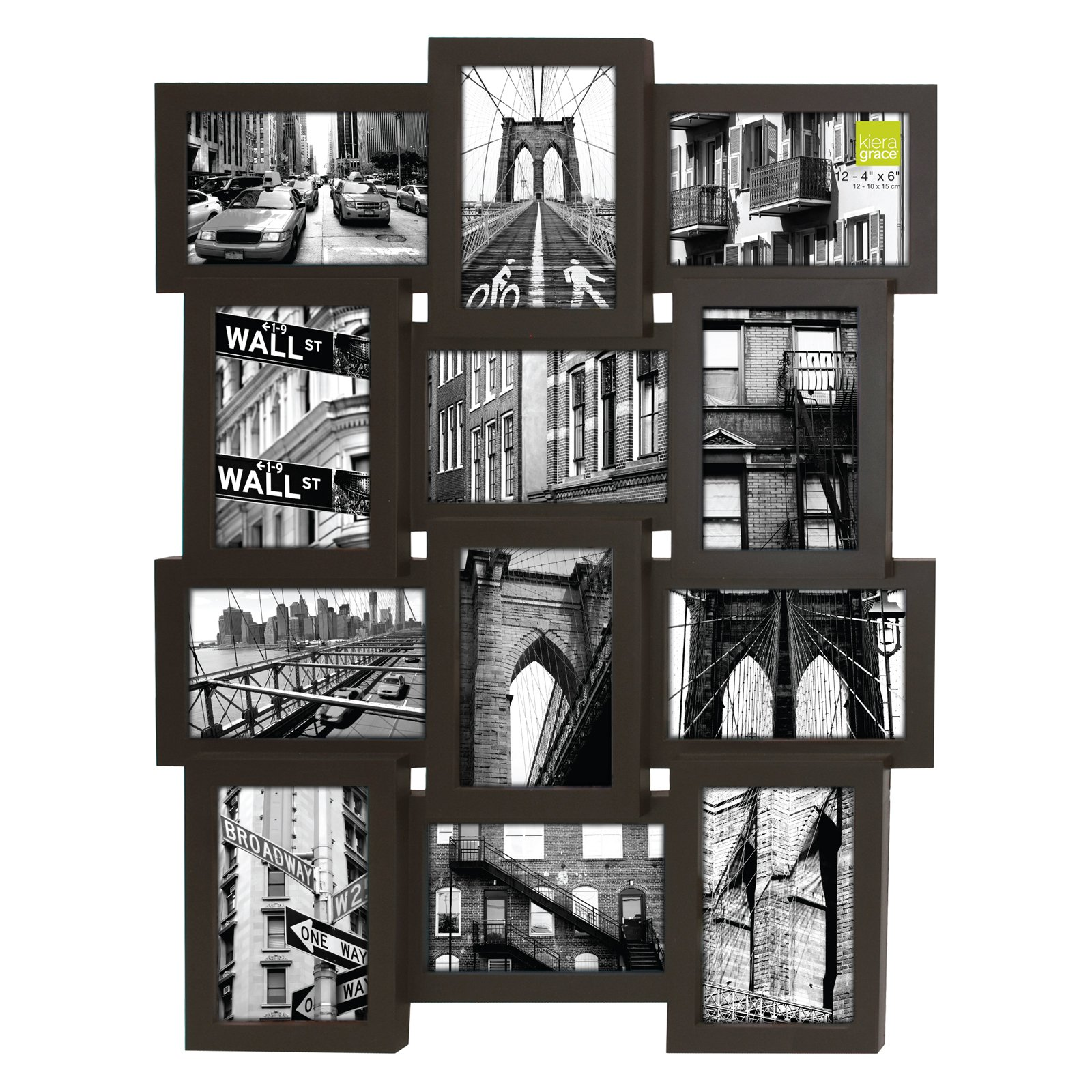 AZ Trading Array Collage Wall Frame - Holds 12 Photos