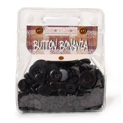 Assorted Black Buttons: 1/2 pound