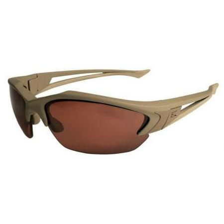 Edge Eyewear Acid Gambit Desert Sand Shooting Glasses Kit with 2 Lens, (Edge Polarized Glasses)