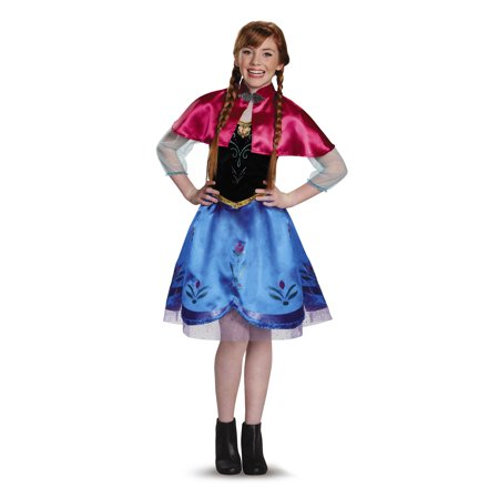 Large Group Costume Themes (Frozen Anna Traveling Gown Teen Halloween Costume, Large)