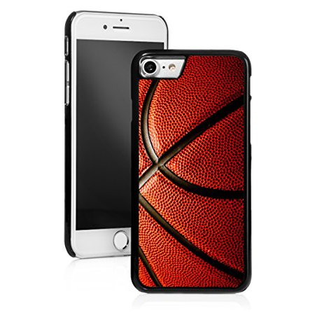 For Apple iPhone Hard Back Case Cover Basketball Close-Up (Black for iPhone 8)