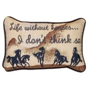 Life Without Horses Decorative Tapestry Toss Pillow
