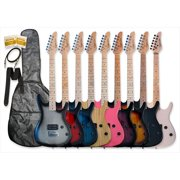 Bguitars GE93-PK 39 in. Electric Guitar Beauty with Carrying Bag and Accessories in Pink