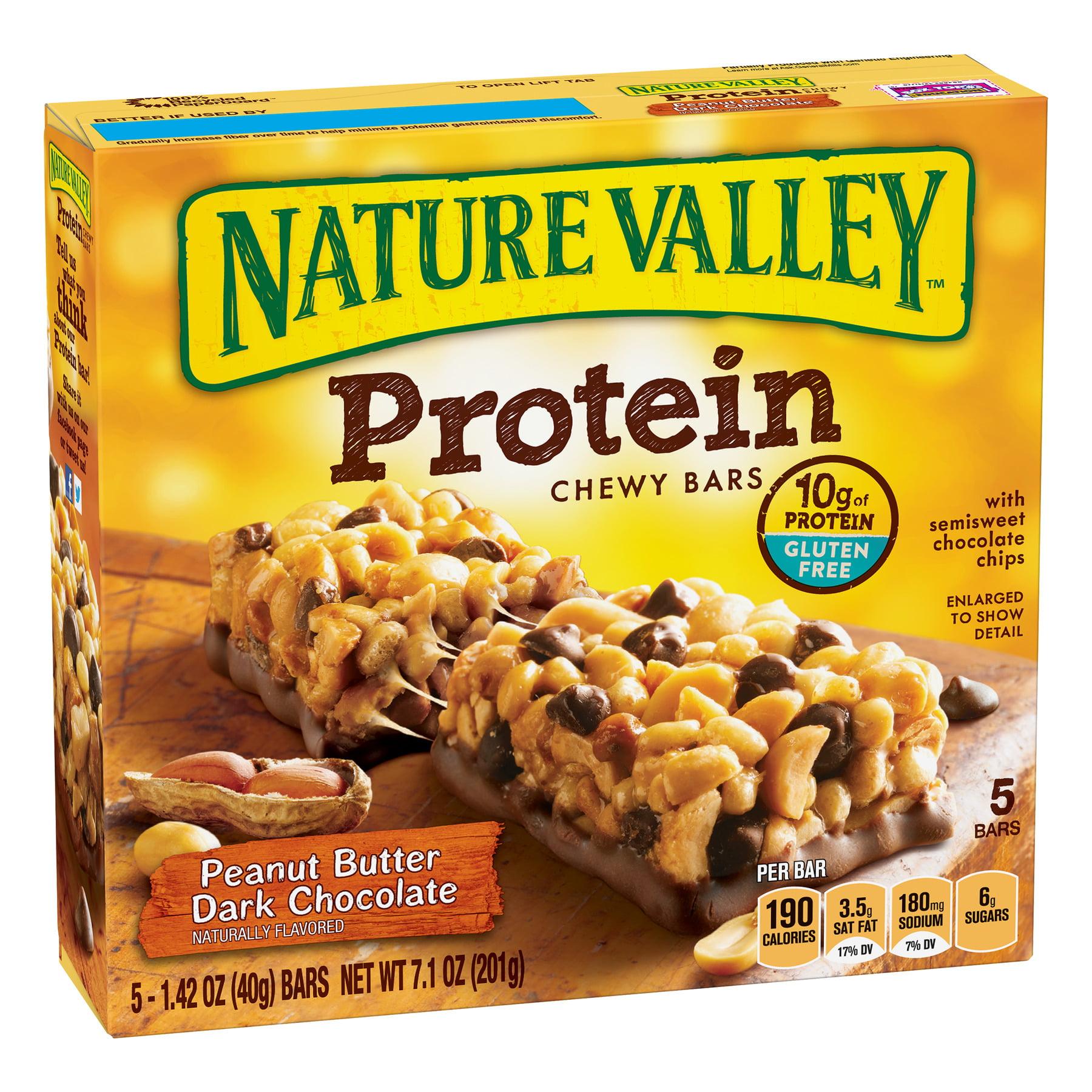 Nature Valley Protein Chewy Bar, Peanut Butter Dark Chocolate, 10g Protein, 5 Ct