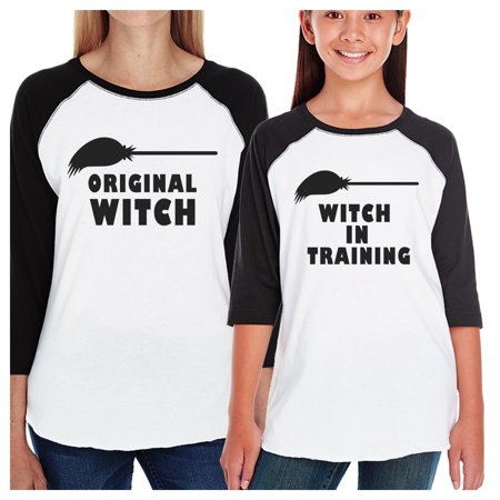Witch In Training Mom and Daughter Matching Halloween Baseball Tee