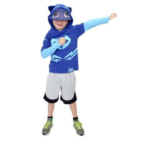 PJ Masks Toddler Boys' Costume Hooded Layered Long Sleeve (Toddler Doesn T Want To Sleep Alone)