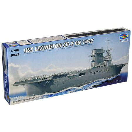 1/700 USS Lexington CV2 Aircraft Carrier May 1942 Model Kit, Glue and paint not included By Trumpeter Ship from US