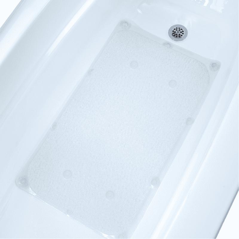 "SlipX Solutions 17"" x 29"" Aqua Pedic Bath Mat (As Seen On TV) in Clear"