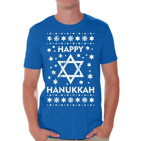 - Awkward Styles Happy Hanukkah Tshirt Hanukkah Shirts for Men Gifts for Chanukah Hanukkah Menorah T Shirt Men's Ugly Hanukkah T Shirt Jewish Holiday Tshirt Gifts for Jewish Men Funny Jew Tshirt