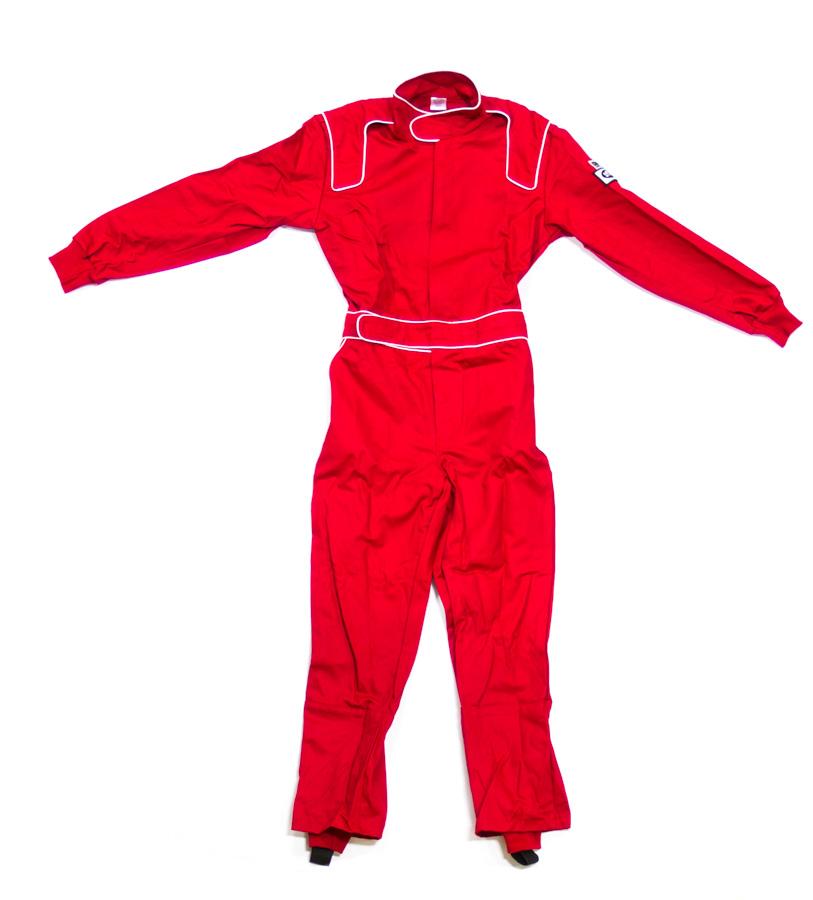 Crow Enterprises Large Red Single Layer 1 Piece Driving Suit P/N 24022