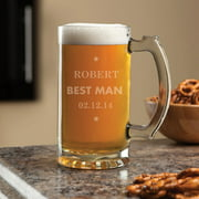 Personalized Best Man 16 oz Beer Mug