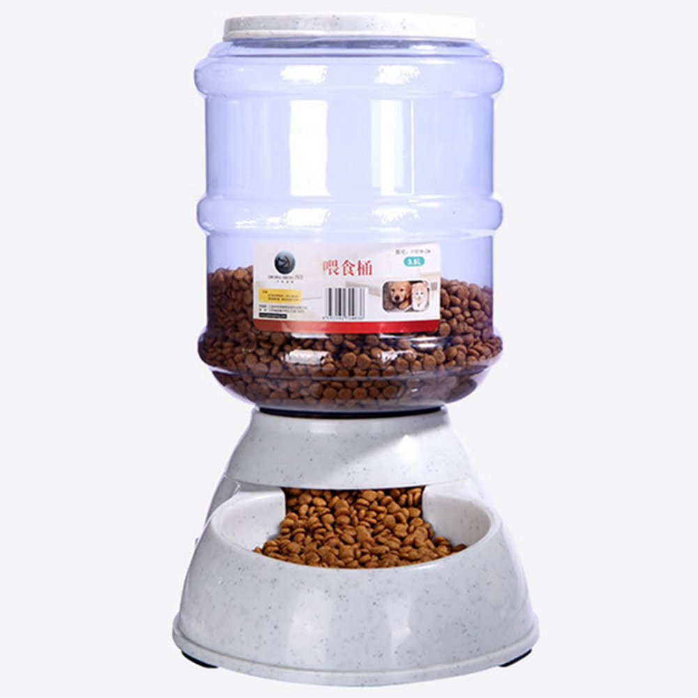Convenient Automatic Removable Pet Food Drink Dispenser Dog Cat Feeder Water Bowl Dish 3.5L