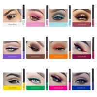 SUPERHOMUSE 12 Colors Waterproof Liquid Eyeliner Lasting Glitter Eye Liner Beauty Makeup Easy to Color