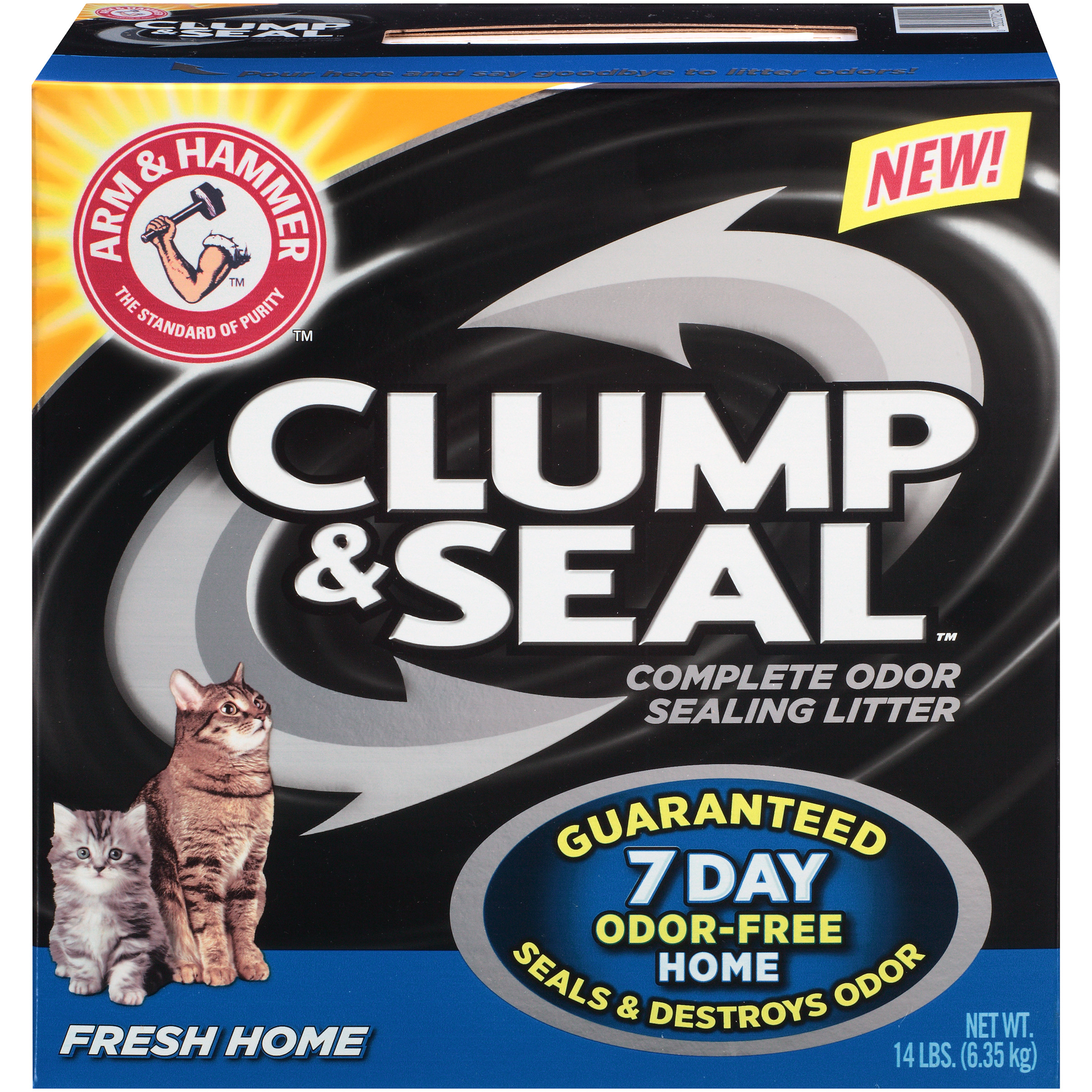 Arm & Hammer Clump & Seal Litter, Fresh Home Scent 14lb