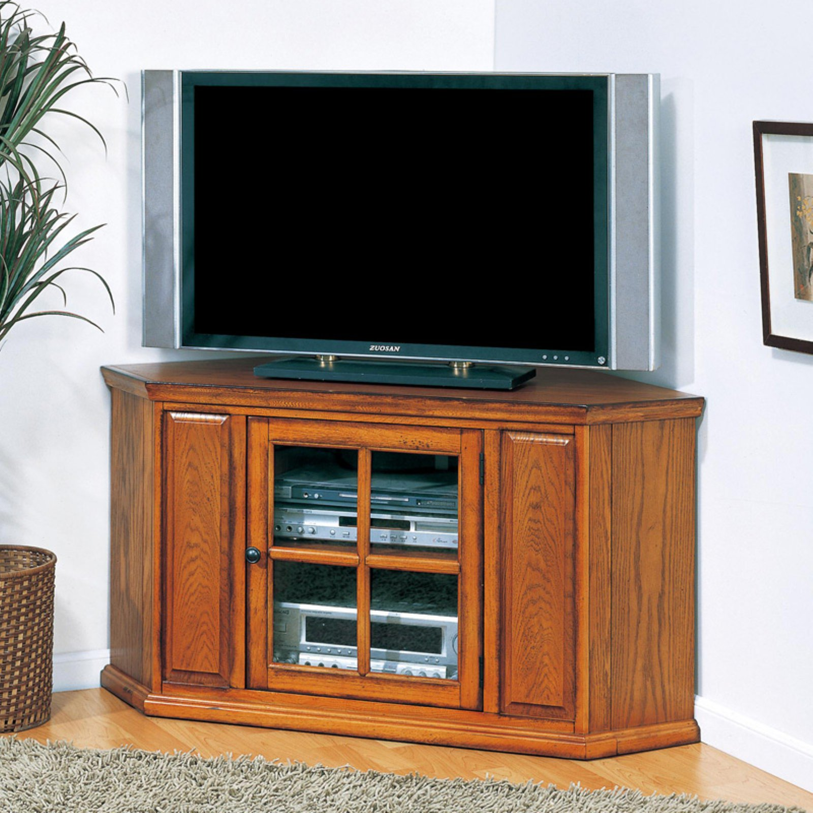 Leick 88285 Riley Holliday Oak 46 in. Corner TV Console by Leick Furniture