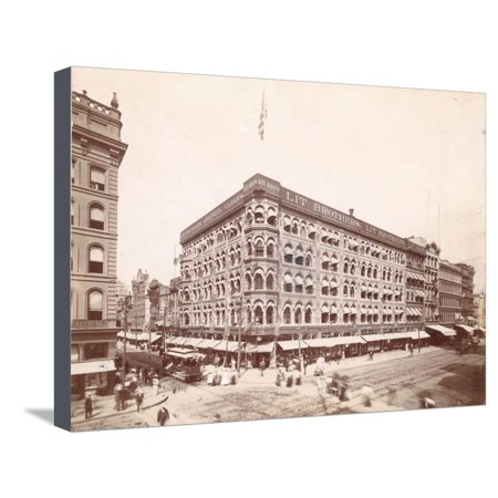Lit Brothers, Market Street at 8th, Northeast Corner, 1898 Stretched Canvas Print Wall Art