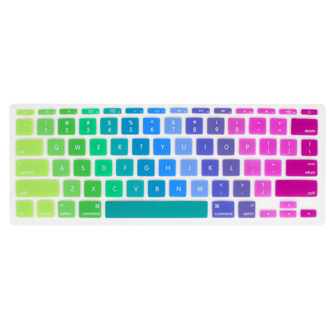 Unique Bargains Colorful Silicone Keyboard Film Guard Protector for Apple MacBook Air 11""