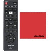 Sanyo NH315UP TV Remote Control for FW-D36F FW40D36F FW55D25F FW55D25F-B With Xtrasaver Microfiber Cleaning Cloths