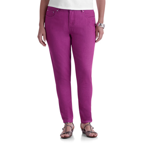 Faded Glory Women's Plus-Size Embellished Colored Skinny Jeans