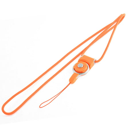 (Orange Detachable Ring Neck Strap Lanyard for Camera MP3 Cell Phone)