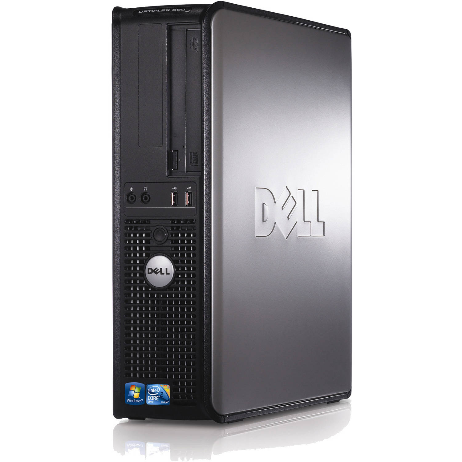Refurbished Dell Optiplex 380 Small Form Factor Desktop PC with Intel Core 2 Duo 4GB RAM 160GB HDD and Win 10 Pro (Monitor not included)