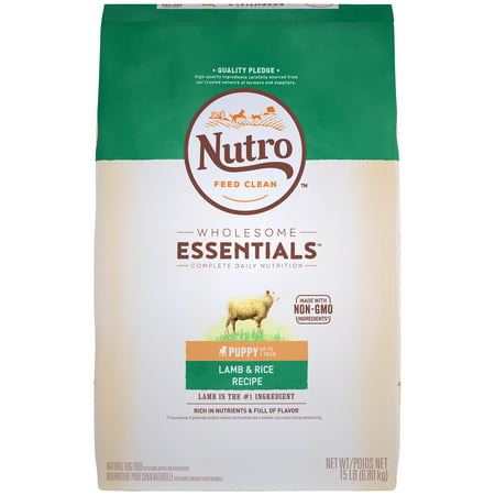 Nutro Natural Choice Puppy Food - NUTRO WHOLESOME ESSENTIALS Natural Puppy Dry Dog Food Lamb and Rice Recipe, 15 lb. Bag
