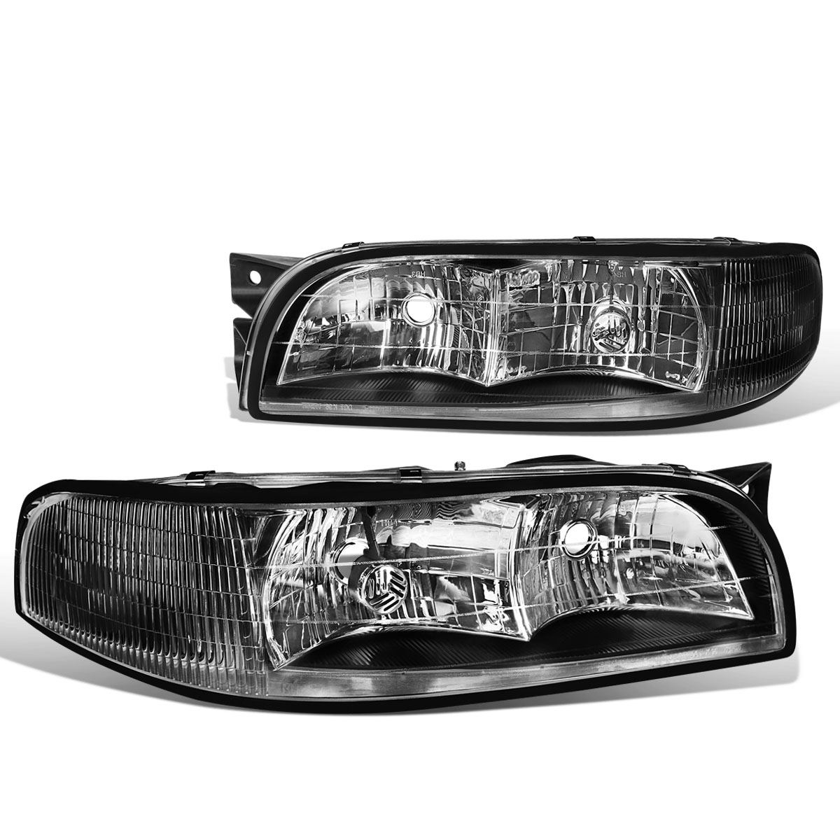 Headlights Headlamps Assembly Pair Set NEW for 97 98 99 Buick LeSabre New