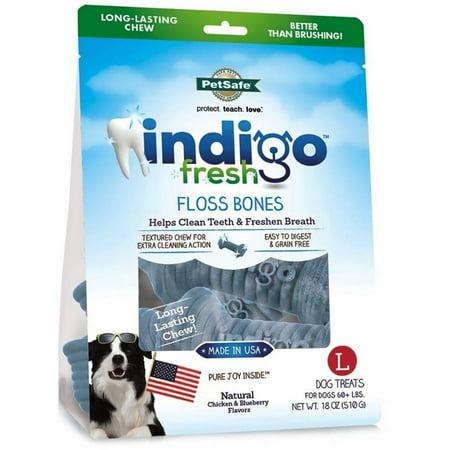Petsafe Indigo Fresh Floss Bones, Large, 18 oz