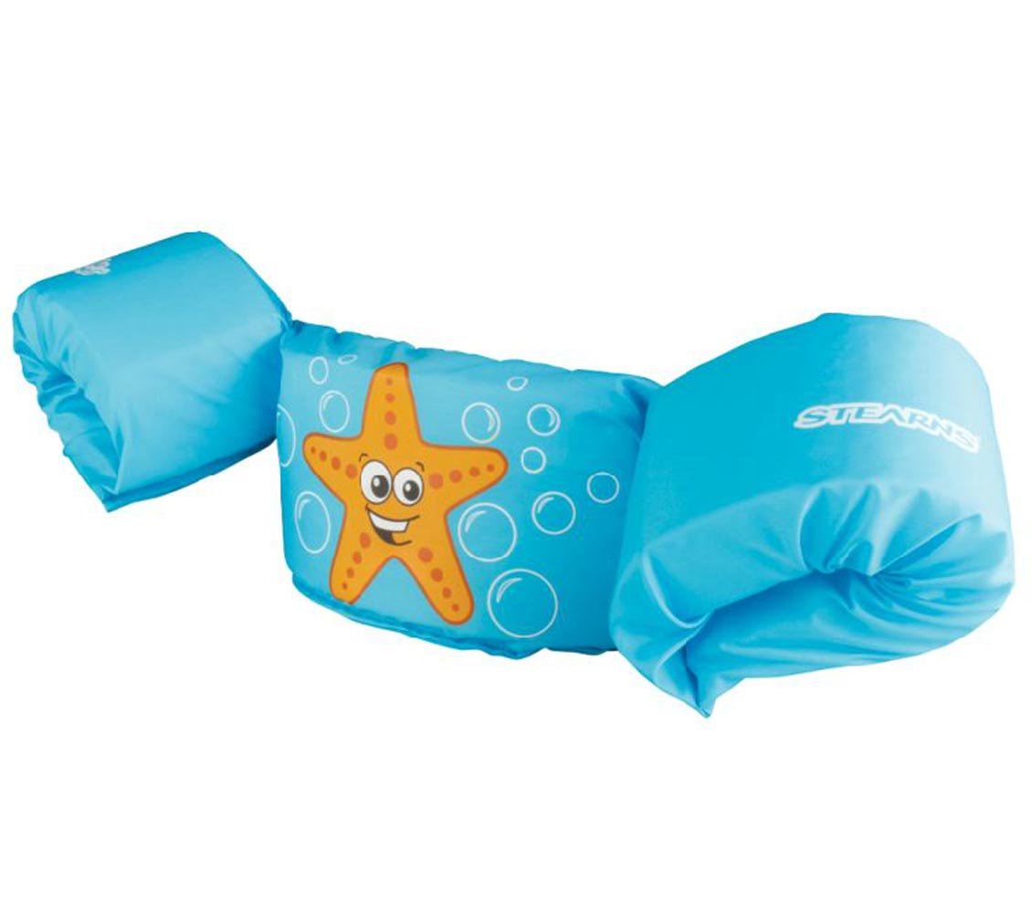New COLEMAN Stearns Kids Puddle Jumper Swimming Life Jacket Vest | Blue Starfish by