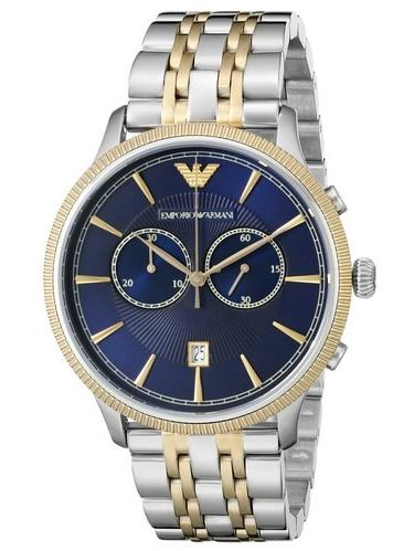 Armani AR1847 Navy Blue/Silver Men's Analog Watch