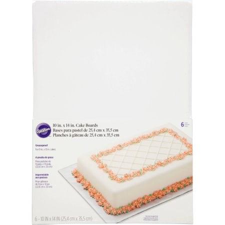 Wilton Cake Board/Platter, Rectangle, 10 x 14