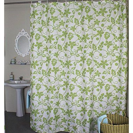 welwo shower curtains ivy leaves shower curtain stall shower curtain 36 x 72 inches green. Black Bedroom Furniture Sets. Home Design Ideas