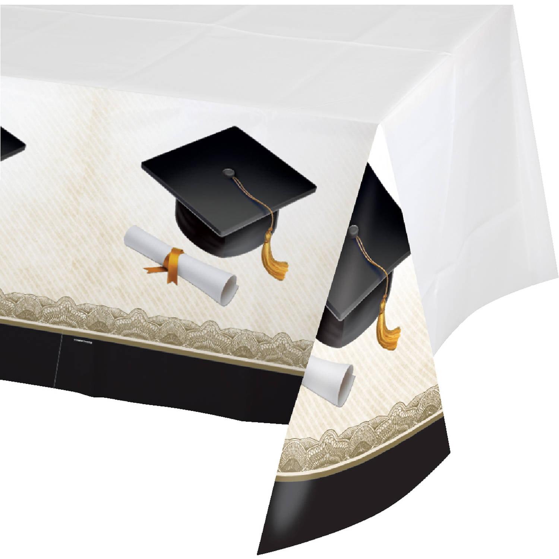 Cap And Gown Graduation Plastic Table Cover Walmartcom