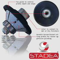 "Stadea Diamond Profile Wheel / Profile Grinding Wheel 45 degree / Bevel 15 MM 9/16"" high for Grinder Polisher Tile Granite marble Concrete Shaping/Diamond Profiling"