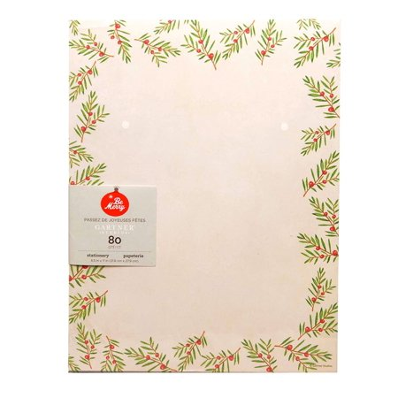 Christmas Pine Stationery - 80CT for $<!---->