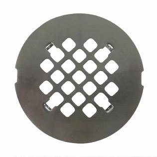 Satin Nickel Round Shower Drain Grate 4 1/4