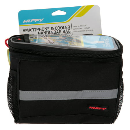 - Huffy Handlebar Cooler Bag with Smartphone Pocket, Black