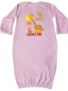 My Nana Loves Me Giraffe Newborn Layette