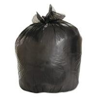 Boardwalk Medium-Grade Trash Bags, 33x39, 33 Gal, .50 Mil, Black, 25 Bags/RL, 8 Rolls/CT -BWK3339H