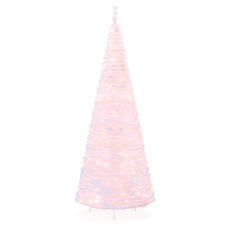 Best Choice Products 7.5ft Pre-Lit Pull-Up Pop-Up Artificial Christmas Tree Holiday Decoration with 450 Warm White Lights, Metal Stand, Minimal Assembly, (Best Christmas Shopping Websites)