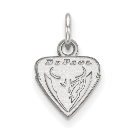 Sterling Silver Official Licensed Collegiate DePaul University XS Pendant