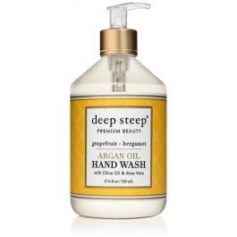 Deep Steep Argan Oil Hand Wash, Grapefruit Bergamot, 17.6 Fl Oz