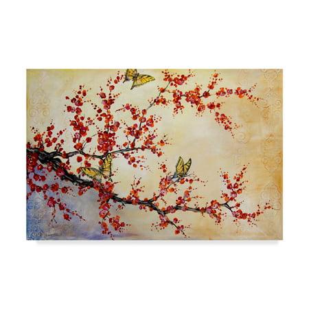 Trademark Fine Art 'Butterfly Blossoms' Canvas Art by Jean (Trademark Global Jean)