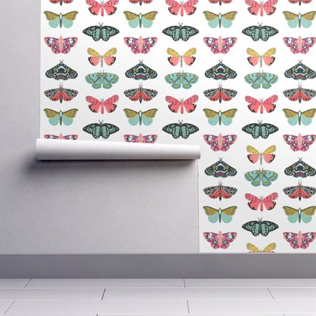 Insects Wallpaper (Peel-and-Stick Removable Wallpaper Moths + Butterflies Butterfly Insect)