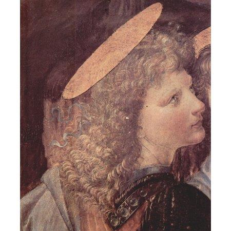 Framed Art for Your Wall Leonardo da Vinci - The Baptism of Christ, detail 10 x 13 Frame